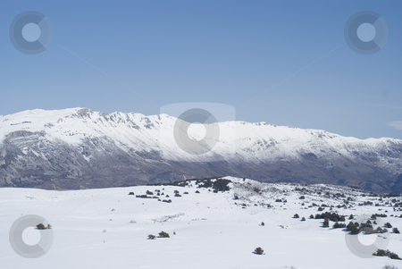 Alps stock photo, South east of Alps in Winter. Calern site in French Riviera by Serge VILLA