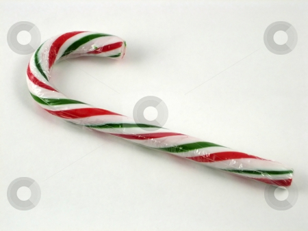 One Candy Canes stock photo, Candy Canes for Christmas Decorations by Albert Lozano