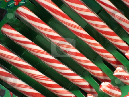 Candy Canes stock photo, Candy Canes for Christmas Decorations by Albert Lozano