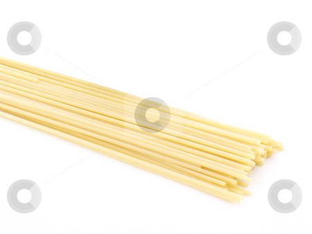 Spaghetti on white stock photo, Spaghetti on a white background by John Teeter