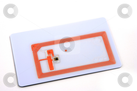 RFID tags stock photo, Stock pictures of several types of rfid tags and transponders by Albert Lozano
