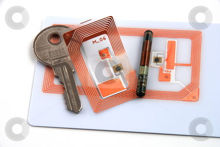 Access control through rfid stock photo, Images depicting the use of rfid for access control by Albert Lozano