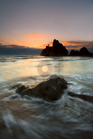 Ruby Beach Tidal Flow stock photo, Ruby Beach by Mike Dawson