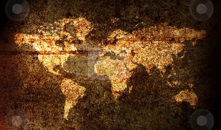 World map stock photo, World map on a rusy surface by Luca Bertolli