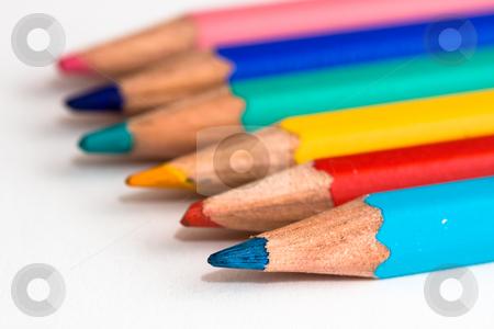 Coloured pencils stock photo, Coloured pencils by Luca Bertolli