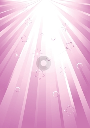 Light spread stock vector clipart, Vector pink light spread by Milsi Art