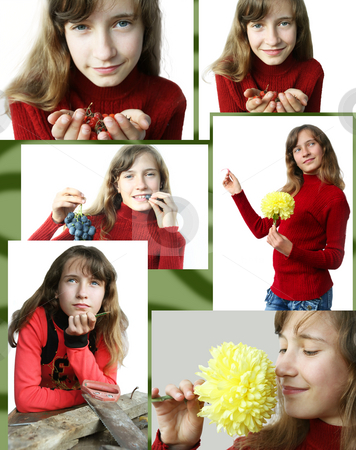 Six in one stock photo, Six photos of the young nice girl by Aleksandr GAvrilov
