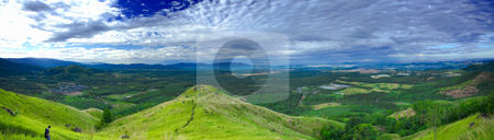 Panoramic view of Broga Hill stock photo, Panoramic view from second peak of the hill. by Mohamad Shahrol Azmi Bin Osman