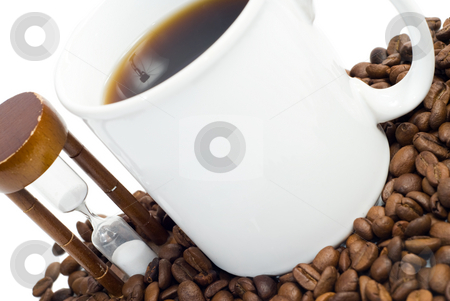 Coffee Time stock photo, Concept image of coffee time, isolated against a white background by Richard Nelson