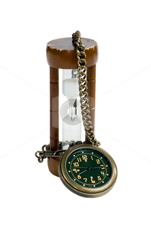 New and Old stock photo, Two timepieces from different eras isolated against a white background by Richard Nelson