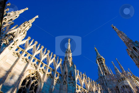 Milan Cathedral Dome stock photo, The most famous building of Milan by Luca Bertolli