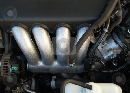 Car engine stock photo, Stock pictures of an engine inside of a car by Albert Lozano