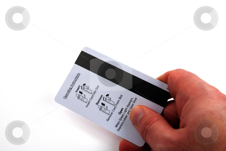 Access card stock photo, Pictures of an electronic card used to gain access to secure locations by Albert Lozano