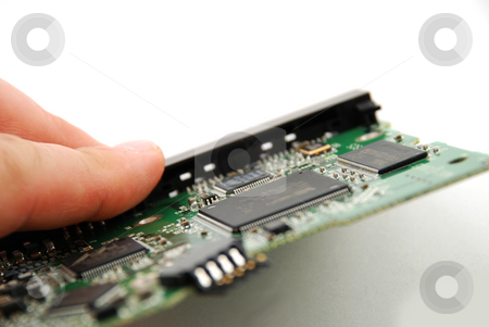 Electronic board stock photo, Stock pictures of an electronic board from a consumer product by Albert Lozano