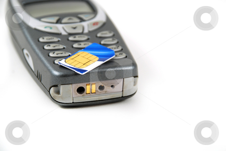 Cell phone pictures stock photo, Stock pictures of the components for a typical cell phone by Albert Lozano