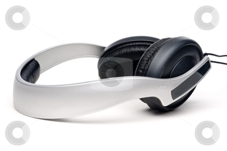 A set of headphones on white stock photo, A set of headphones on white by Vince Clements