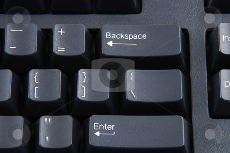 Keyboard stock photo, Stock pictures of a keyboard used in a regular computer by Albert Lozano