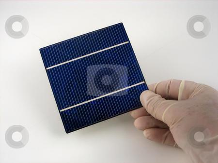 Solar cell research stock photo, Reserarch and development in solar cells by Albert Lozano