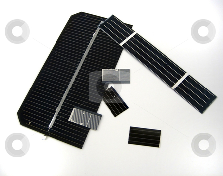 Solar cells stock photo, Pictures of portion of solar cells by Albert Lozano