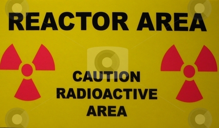 Radioactive materials stock photo, Sign warning for the presence of nuclear and radioactive materials by Albert Lozano