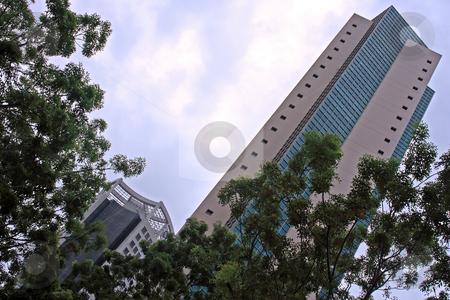 Singapore Skyscraper stock photo, Skyscraper in Singapore; photographed in October 2008 by Manuela Schueler
