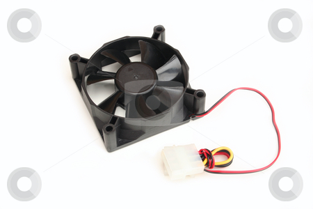 Case Cooling Fan 80cm stock photo, Used to aid airflow through the computer casing by Helen Shorey