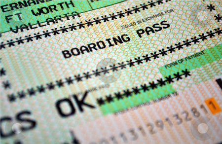 Boarding pass stock photo, Air travel boarding pass. by Fernando Barozza