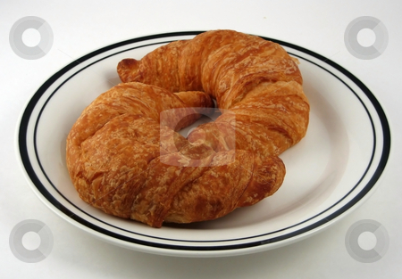 Croissants stock photo, Pictures of croissants used for breakfast by Albert Lozano