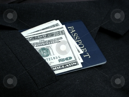 Ready to travel stock photo, Travel and cash by Albert Lozano