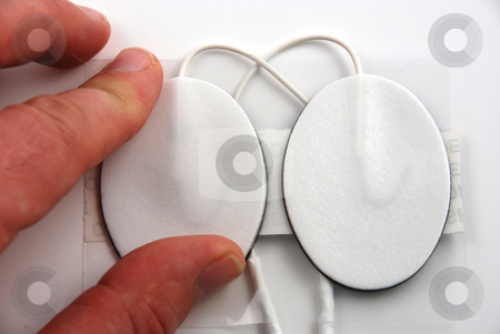 Electrodes stock photo, Stock pictures of electrodes used in a variety of medical equipment by Albert Lozano