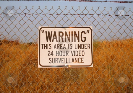 Warning Sign stock photo,  by Michael Felix
