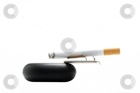 Cigarettes over white background stock photo, Cigarettes over white background.Unsharpened. by Ivelin Radkov