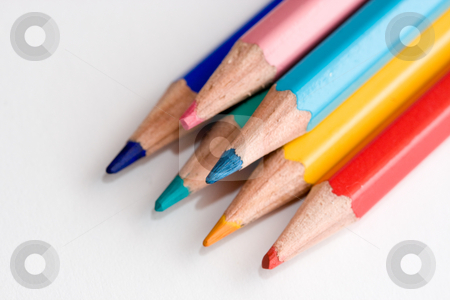 Colored pencils stock photo, Colored pencils by Luca Bertolli