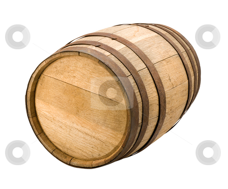 Old Barrel stock photo, Old Barrel isolated on a white background by Danny Smythe