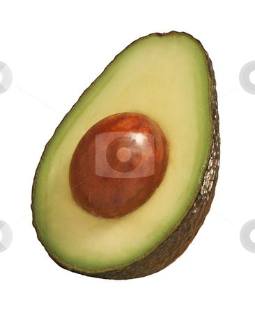 Avocado stock photo, Avocado isolated on a white background by Danny Smythe