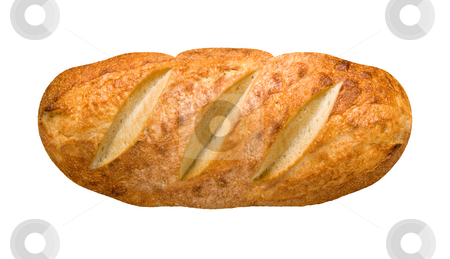 Bread Loaf stock photo, Bread Loaf isolated on white with a clipping path by Danny Smythe