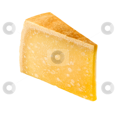 Cheese Wedge stock photo, Cheese Wedge isolated on a white background by Danny Smythe