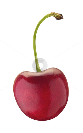 Cherries stock photo, Cherries isolated on a white background by Danny Smythe