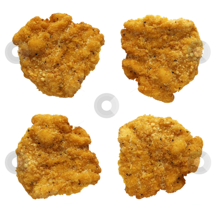 Chicken Nuggets stock photo, Chicken Nuggets isolated on a white background by Danny Smythe