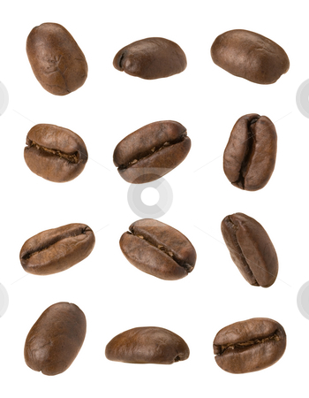 Coffee Beans stock photo, Coffee Beans isolated on a white background by Danny Smythe