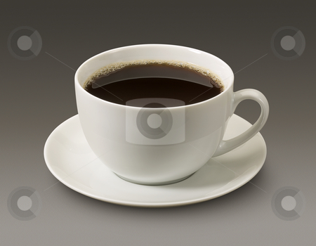 Cup Of Coffee stock photo, Cup Of Coffee isolated on a dark background by Danny Smythe