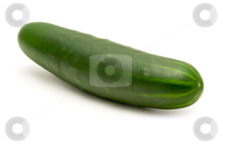 Cucumber stock photo, Cucumber isolated on a white background by Danny Smythe