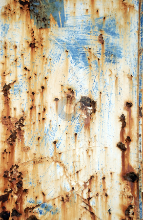 Rust background 02 stock photo, Pitted and rusty grunge background by Paul Turner