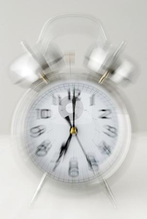 Ringing alarm clock stock photo, Loud ringing chrome alarm clock by Paul Turner