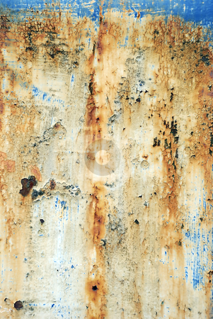 Rust background 03 stock photo, Pitted and rusty grunge background by Paul Turner