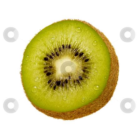 Kiwi Slice stock photo, Kiwi Slice isolated on a white background by Danny Smythe