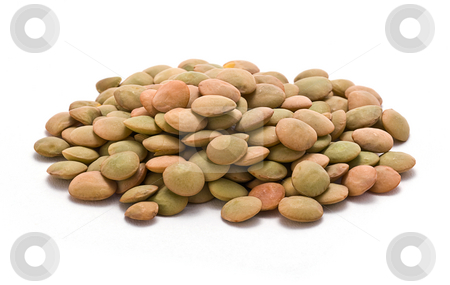 Lentils stock photo, Lentils isolated on a white background by Danny Smythe