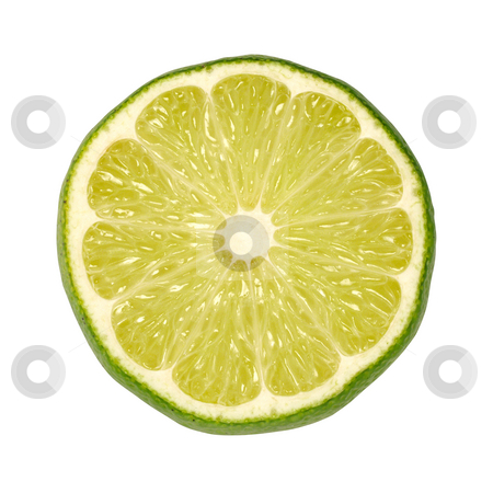 Lime Slice stock photo, Lime Slice isolated on a white background by Danny Smythe