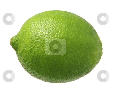 Lime stock photo, Lime isolated on a white background by Danny Smythe
