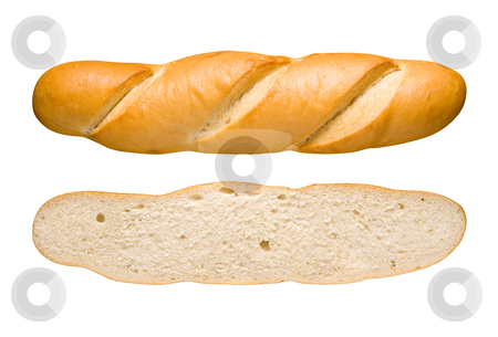 Bread Loaf and Slice stock photo, Bread Loaf and Slice Isolated on a white background by Danny Smythe
